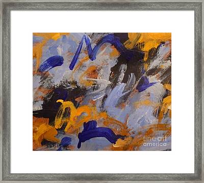O Give Thanks Unto The Lord - Psalm 107 1a - Abstract Expressionist Painting Framed Print by Philip Jones