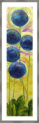 Blue Onion Blossoms And Romaine Framed Print by Paris Wyatt Llanso