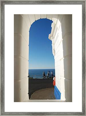 Blue Opening Byron Bay Lighthouse Framed Print