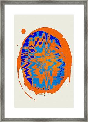 Blue Orange Abstract Art Framed Print