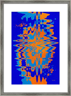 Blue Orange Abstract Framed Print by Christina Rollo
