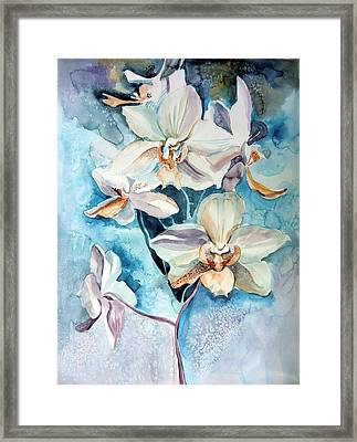 Blue Orchid Framed Print by Mindy Newman