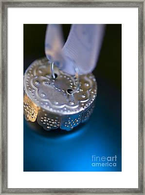 Blue Ornament Framed Print by Birgit Tyrrell