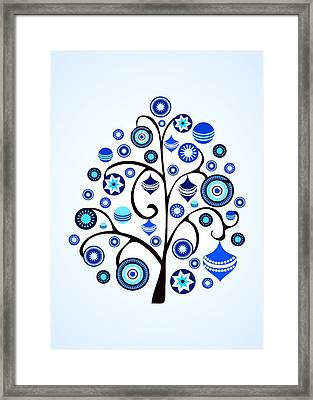 Blue Ornaments Framed Print by Anastasiya Malakhova