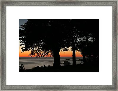 Blue Pacific At Sunset Framed Print