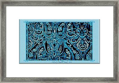 Blue Paisley Patterns  Framed Print