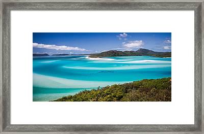 Blue Paradise Whitehaven Beach Whitsunday Island Framed Print by Mr Bennett Kent