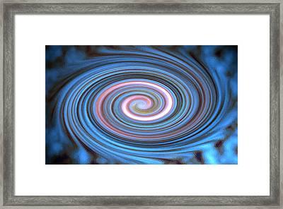 Blue Pastel Swirl Framed Print by Frank Tschakert