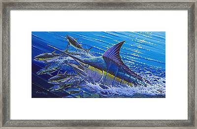 Blue Persuader  Framed Print by Carey Chen