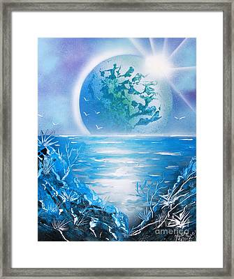 Blue Moon Framed Print by Greg Moores