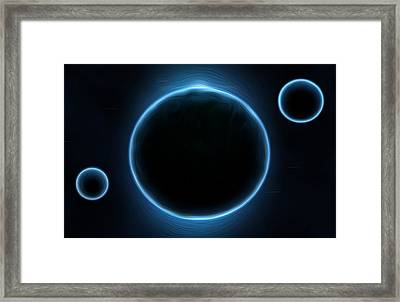 Blue Planets Framed Print by Nathan Clepper