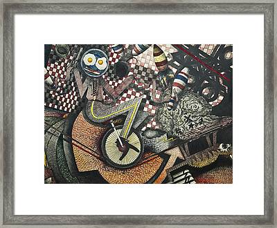 Blue Plate Special Framed Print by Larry Butterworth