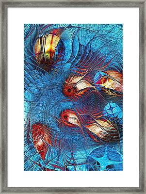 Blue Pond Framed Print by Anastasiya Malakhova