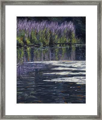 Blue Pond Framed Print by Lucie Bilodeau