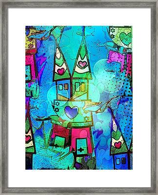 Blue Popart Dome By Nico Bielow Framed Print