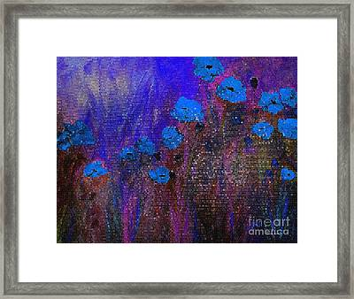 Blue Poppies Framed Print by Claire Bull