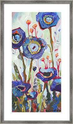Blue Poppies I Framed Print