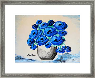 Blue Poppies Framed Print by Ramona Matei