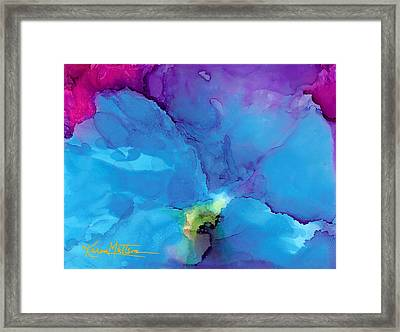 Blue Poppy Framed Print by Karen Mattson