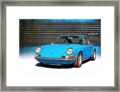 Blue Porsche 911 Framed Print