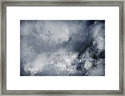 Blue Poseidon Framed Print by Lincoln Rogers