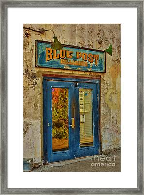 Blue Post Billiards Framed Print by Bob Sample