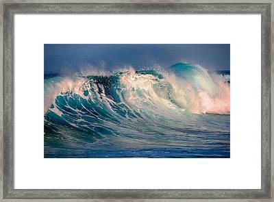 Blue Power. Indian Ocean Framed Print by Jenny Rainbow