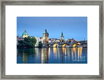 Blue Prague Framed Print