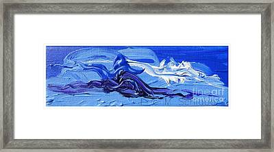 Blue Purple  Abstract Framed Print by Eric  Schiabor