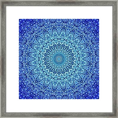 Blue Quasicrystal Framed Print by Dan Gries