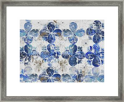 Blue Quatrefoil Panel Framed Print by Patricia Pinto