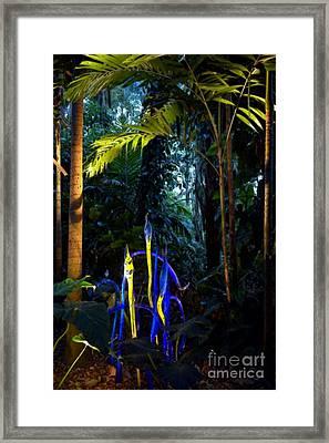 Blue Rainforest Framed Print