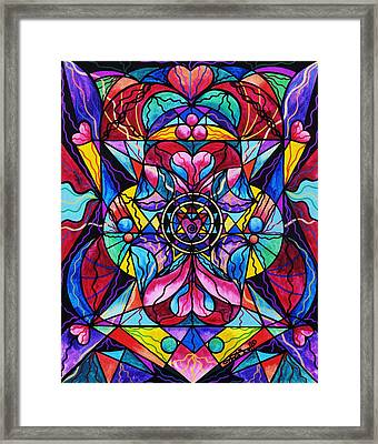 Blue Ray Healing Framed Print by Teal Eye  Print Store