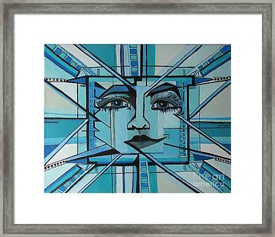 Blue Ray - Sun Framed Print