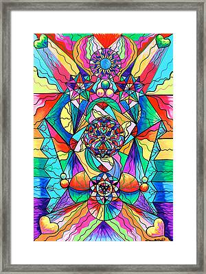 Blue Ray Transcendence Grid Framed Print