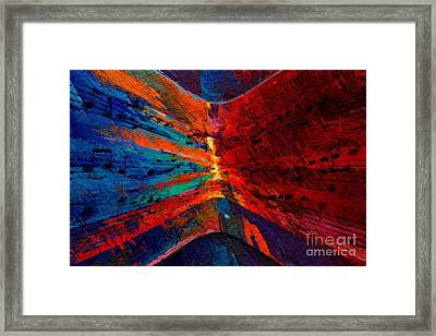 Framed Print featuring the digital art Blue Red Intermezzo by Lon Chaffin