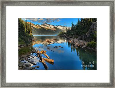 Blue Reflections At Garibaldi Framed Print by Adam Jewell