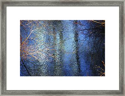 Blue Reflections Of The Patapsco River Framed Print