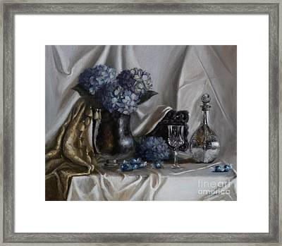 Blue Reflections Framed Print by Viktoria K Majestic