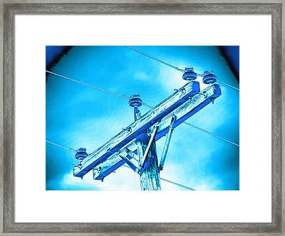 Blue Relay Framed Print by Wendy J St Christopher