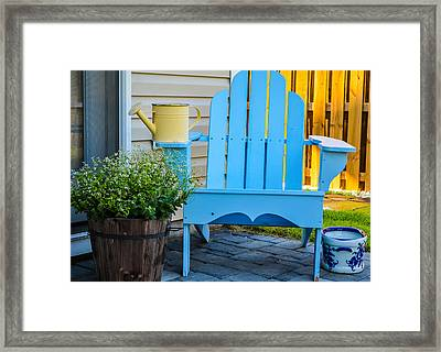 Blue Repose  Framed Print