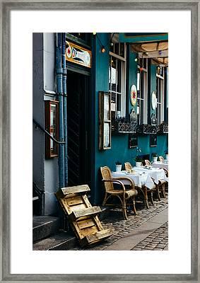 Blue Restaurant Framed Print