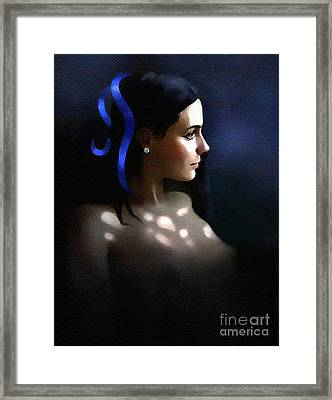Blue Ribbon Framed Print by Robert Foster