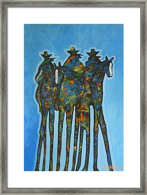 Blue Riders Framed Print by Lance Headlee
