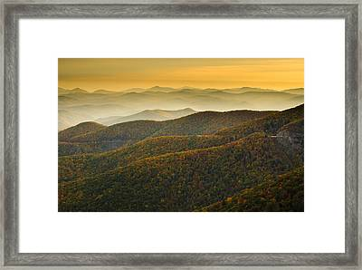 Blue Ridge Autumn Framed Print by Serge Skiba