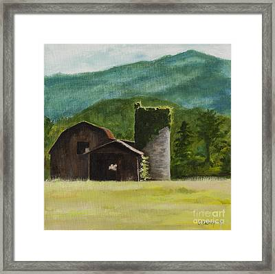 Blue Ridge Barn Framed Print by Carla Dabney
