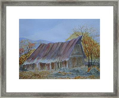 Blue Ridge Barn Framed Print