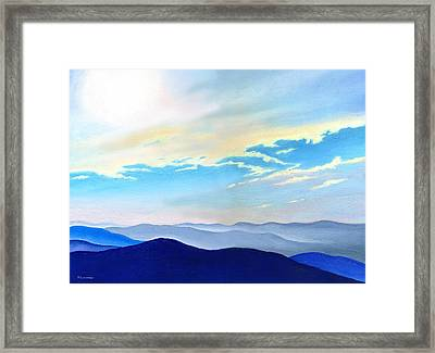 Blue Ridge Blue Above Framed Print