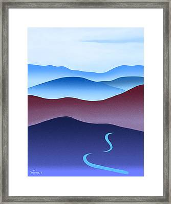 Blue Ridge Blue Road Framed Print
