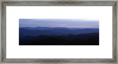 Blue Ridge Blues Framed Print